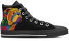 Bulldog Color Women's High Top Shoes