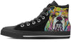 Bulldog Women's High Top Shoes (#1)