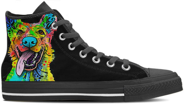 German Shepherd Men's High Top Shoes (#1)