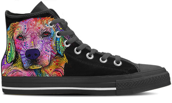 Golden Retriever Women's High Top Shoes (#1)