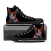 Bull Terrier Men's High Top Shoes