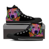 Golden Retriever Men's High Top Shoes (#1)