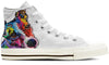 Jack Russell Terrier Men's High Top Shoes (WHITE)