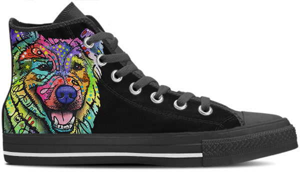 Keeshond Men's High Top Shoes