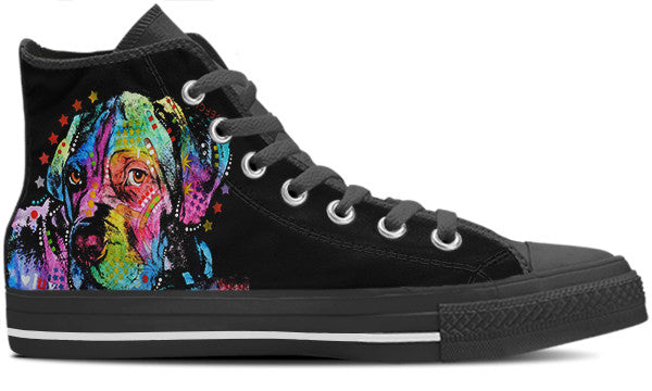 Mastiff Love Men's High Top Shoes (#1)
