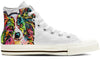 Papillon Men's High Top Shoes (WHITE)