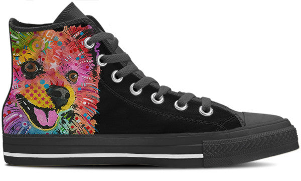 Pomeranian Men's High Top Shoes (#1)