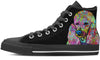 Poodle Women's High Top Shoes (#1)