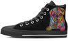Pug Sugar Skull Men's High Top Shoes (#1)