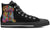 Pug Sugar Skull Women's High Top Shoes (#1)