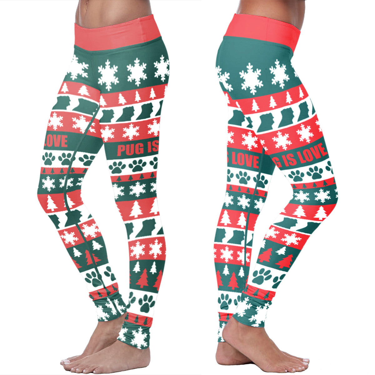 Pug Christmas Leggings