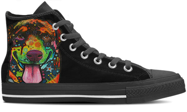 Rottweiler Women's High Top Shoes #2