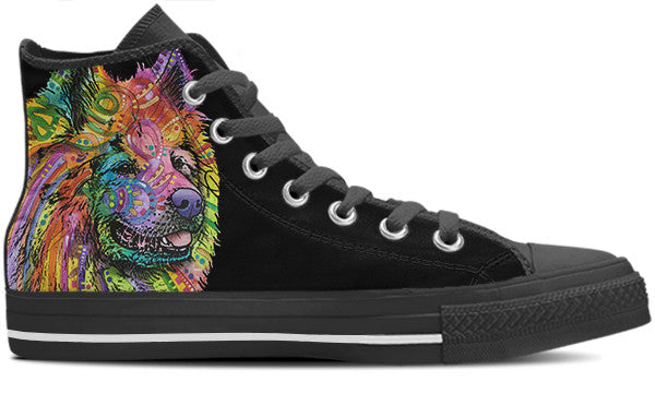 Samoyed Men's High Top Shoes