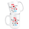 Thank you for loving me almost as much as the Dog Mug 15oz - The TC Shop