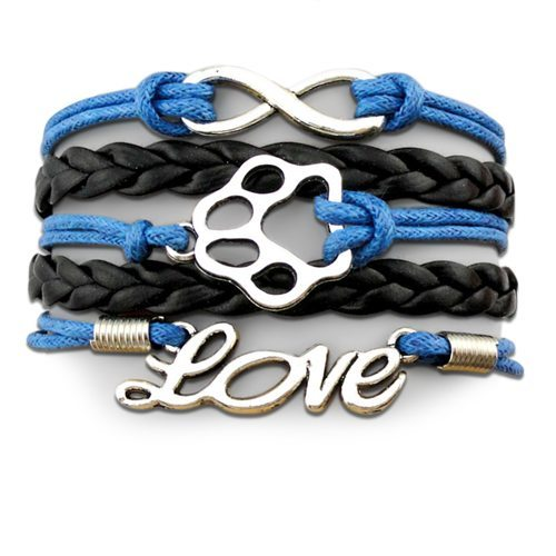Product Bracelet - Infinity Puppy Bracelet - Blue Black
