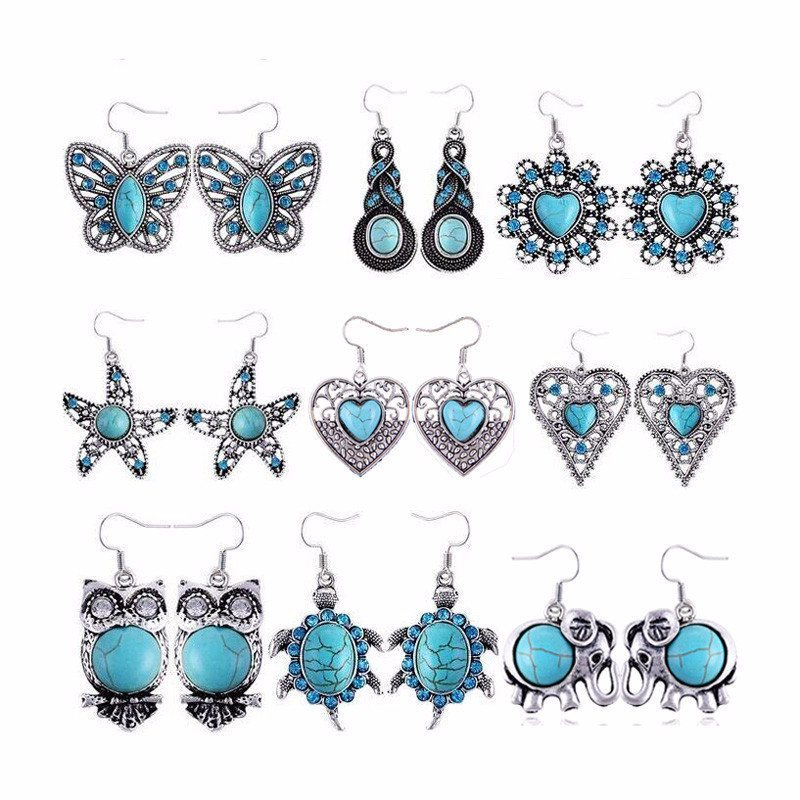 Product Earrings - Silver Turquoise Earrings