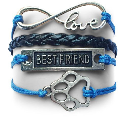 Product GiveAway - BF Infinity Puppy Bracelet - Blue & Black Offer