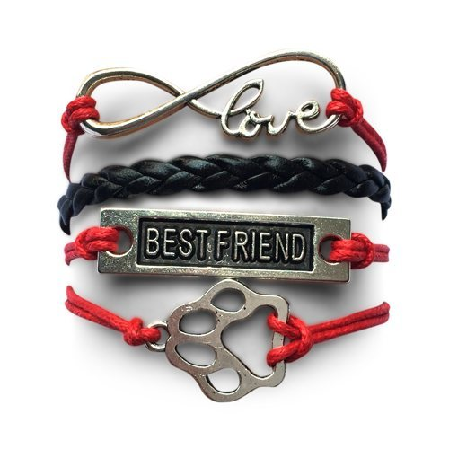 Product GiveAway - BF Infinity Puppy Bracelet - Red Black Offer
