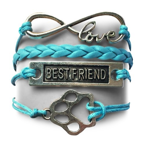 Product GiveAway - BF Infinity Puppy Bracelet - Turquoise Offer
