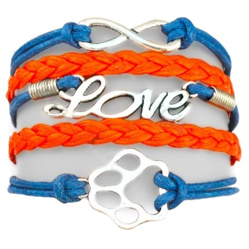 Product GiveAway - Infinity Puppy Bracelet - Orange Blue Offer