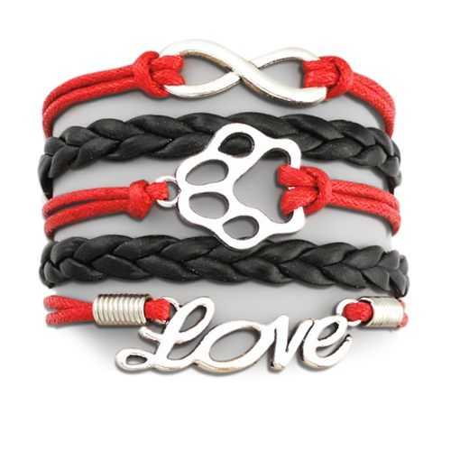 Product GiveAway - Infinity Puppy Bracelet - Red & Black Offer