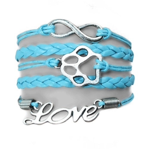 Product GiveAway - Infinity Puppy Bracelet - Turquoise Offer