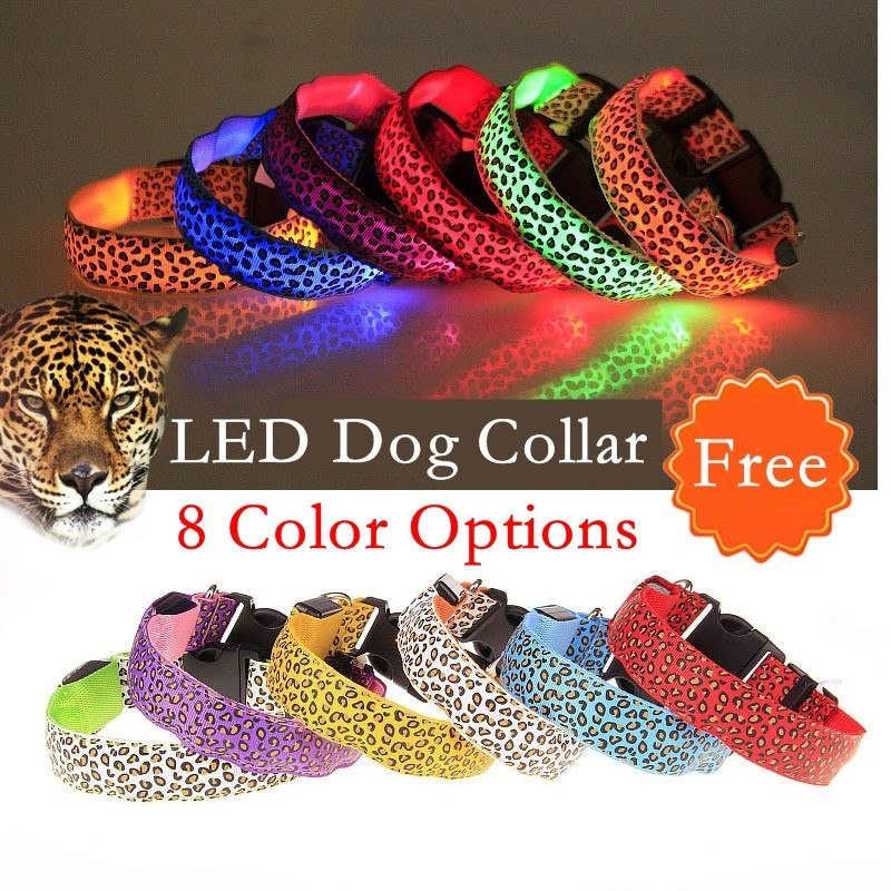 Product GiveAway - Leopard Spot LED Dog Collars Offer