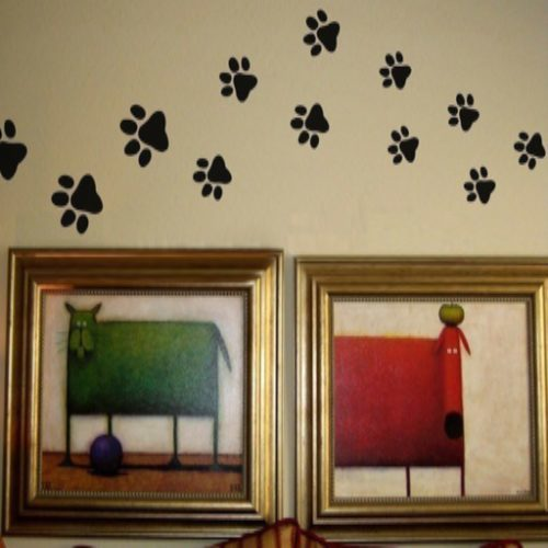 Product GiveAway - Paw Print Wall Stickers Offer
