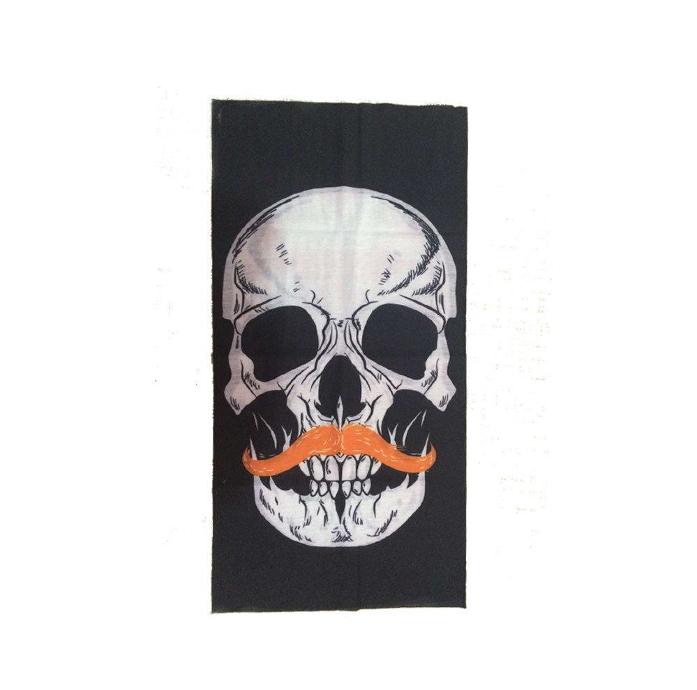 Product Mask - Mustache Skull Face Mask