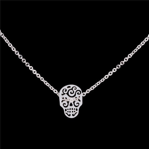 Product Necklace - Sugar Skull Charm Necklace