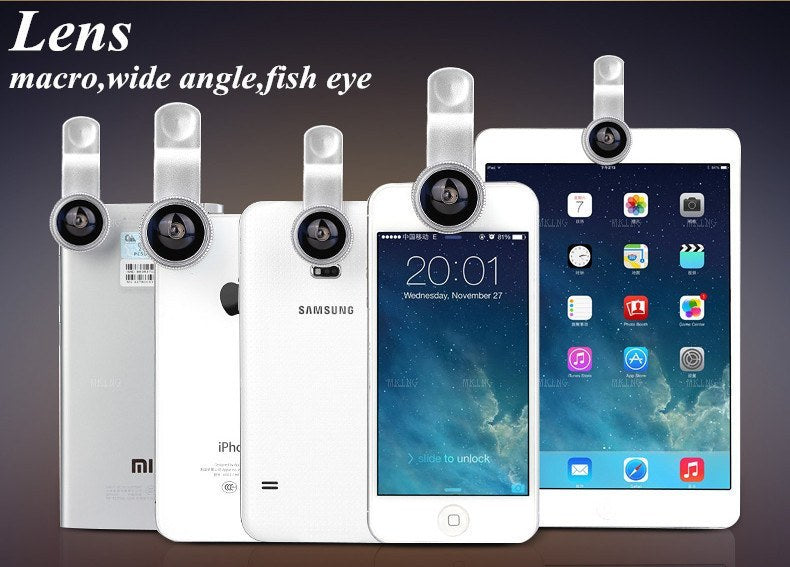 Product Phone Lense - Universal 3 In 1 Cell Phone Camera Lens