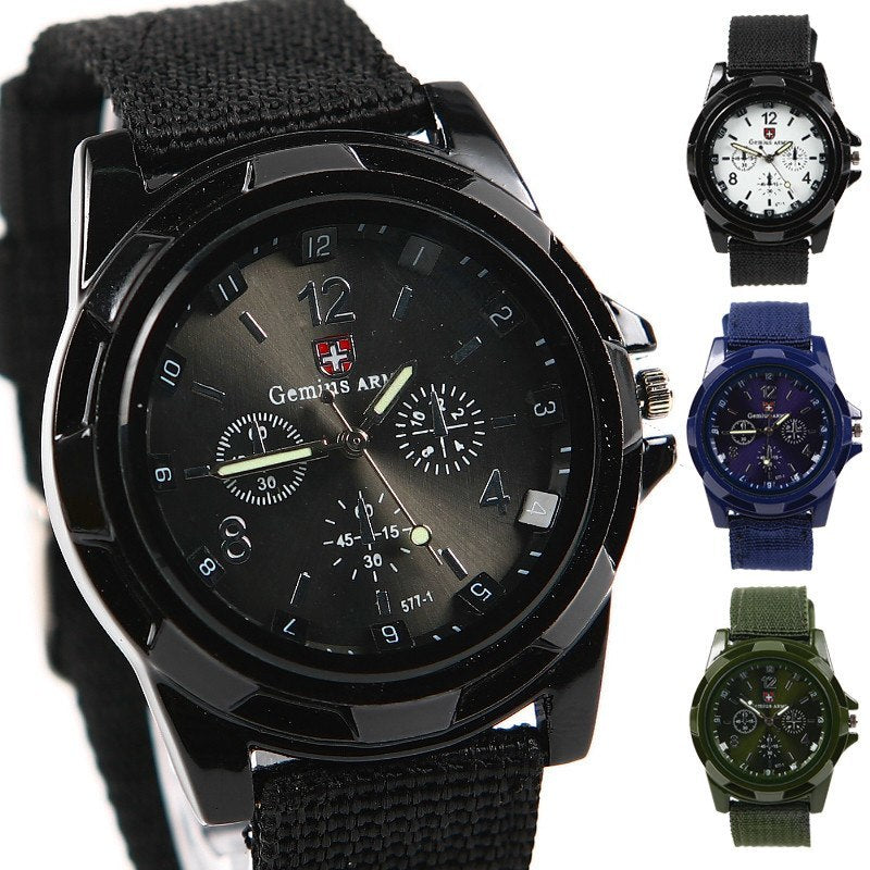 Product Watch - Military Canvas Belt Luminous Quartz Watch Offer