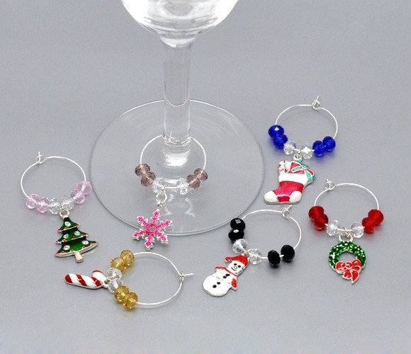 Product Wine Glass Charm - Wine Glass Christmas Charms