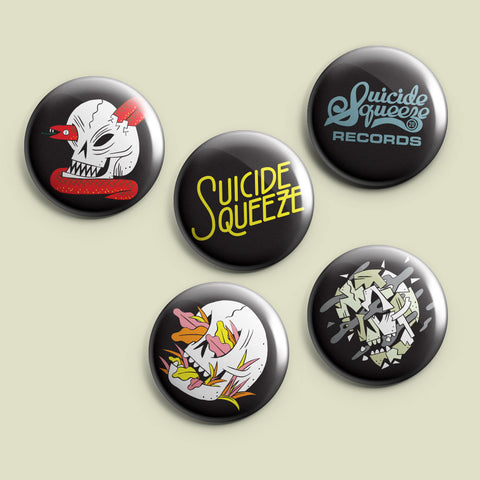 Suicide Squeeze 5x button pack
