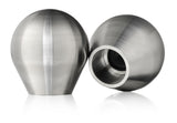 Weighted and Dampened Stainless Steel Shift Knob Acura Honda M10x1.5mm BLKT