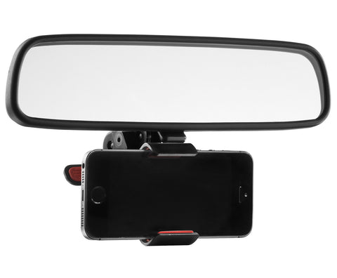 Mirror Mount Car Electronics Bracket - iPhone, Android, GPS, Samsung, Apple
