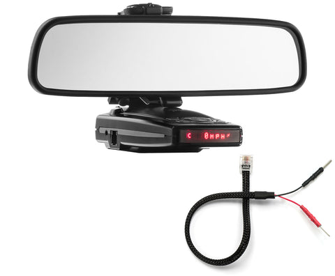 Mirror Mount Bracket + Mirror Wire Cord - Escort 9500ix 8500x50 X70 S55