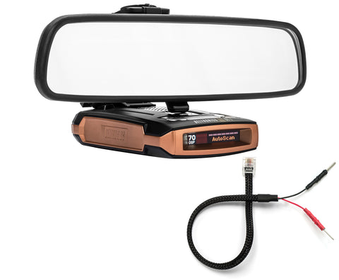 Mirror Mount Bracket + Mirror Wire Cord - Beltronics GT-7