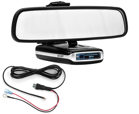 Mirror Mount Bracket + Direct Wire Cord - Escort MAX360 MAX2 MAX