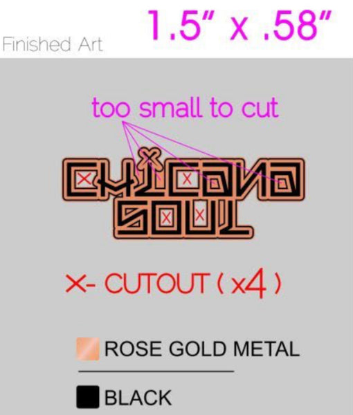 Chicana Soul Handstyle logo pin