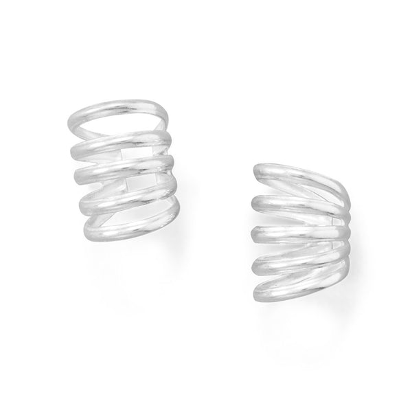 Silver Five Row Ear Cuffs