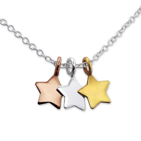 Tiny Star Trio Necklace