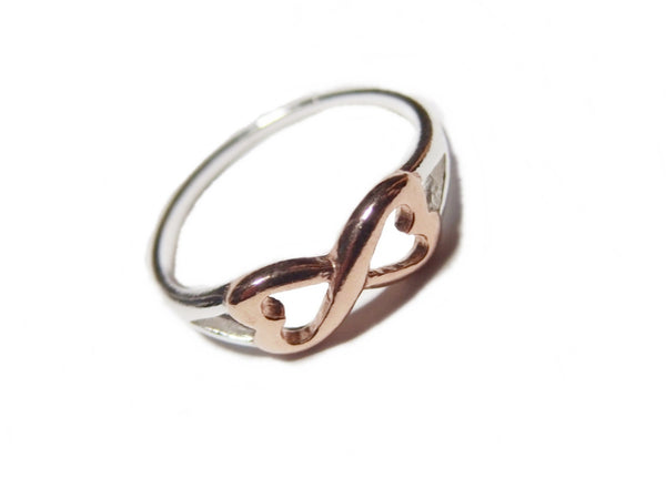 Rose Gold Infinity Heart Ring