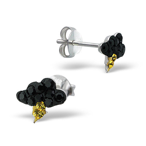 Black Crystal Thundercloud Studs