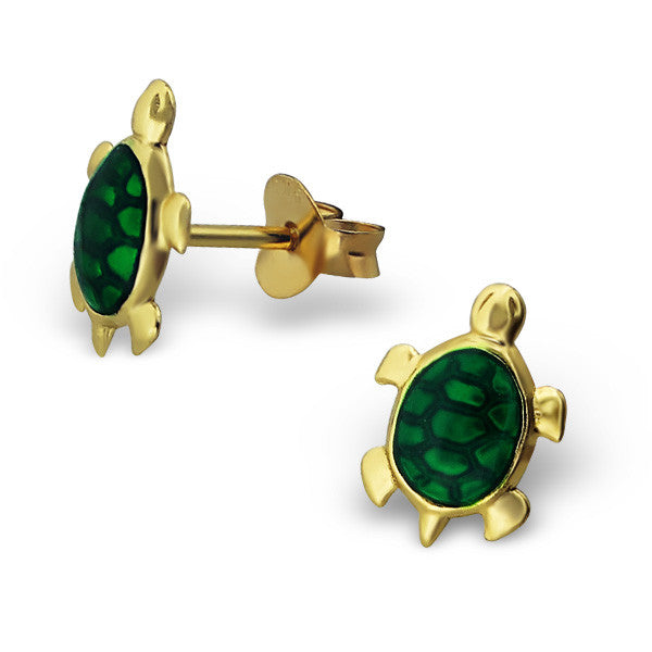 Gold Turtle Studs