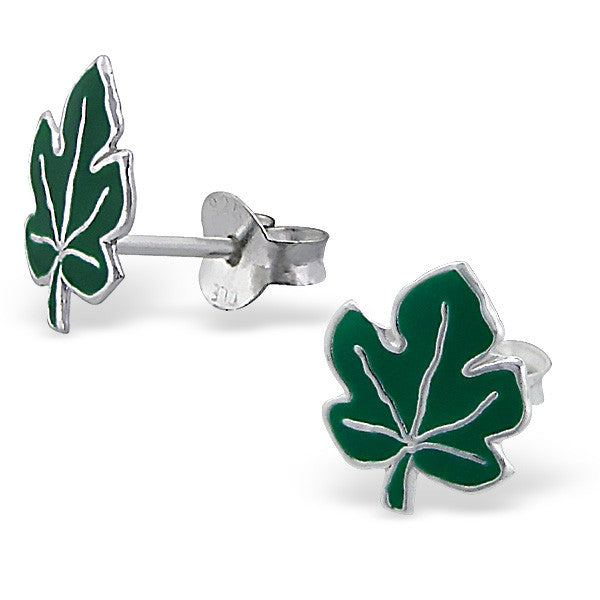 Green Maple Leaf Studs