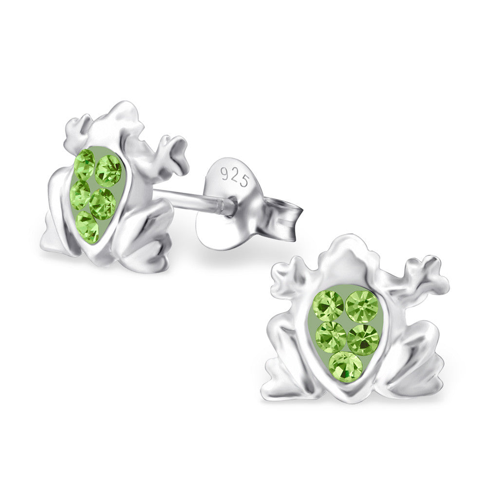 Light Green Crystal Frog Studs