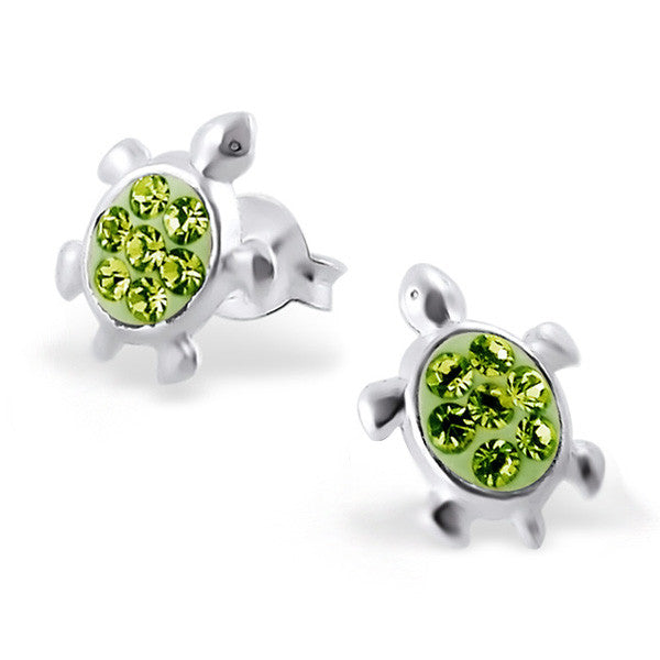 Light Green Crystal Turtle Studs