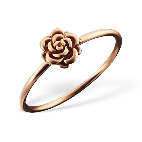 Rose Gold Rose Ring