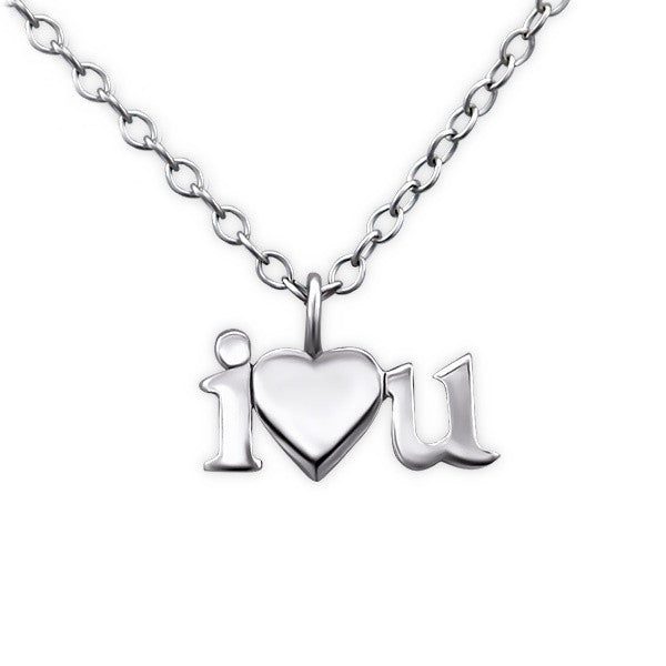 Silver I Love You Necklace